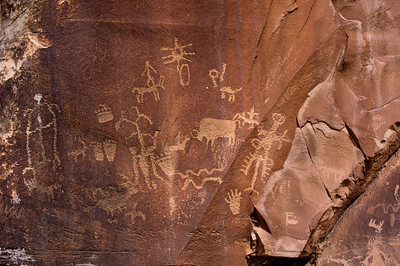 The Dalies, Newspaper Rock, outside of Moab, Utah.