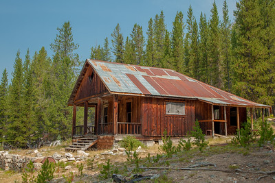 Frank Tyro's home, Coolidge Ghost Town.  Tyro was postmaster at Coolidge.  There is a sauna behind the home, reflecting the influence of Butte's Finnish miners.