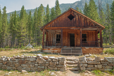 Home of Frank Tyro, Coolidge Ghost Town.  Tyro was postmaster at Coolidge.  There is a sauna behind the house, reflecting the influence from Butte's Finnish miners.