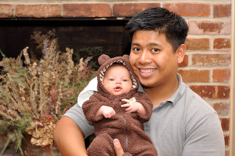Daddy and his little bear.
