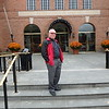 Guy standing in front of the Baseball Hall of Fame