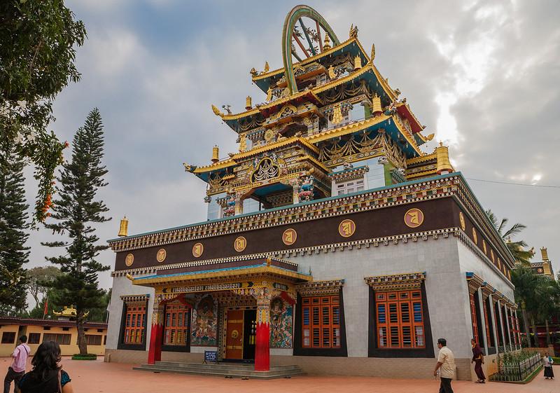 Bylakuppe monastery in Coorg, Karnataka