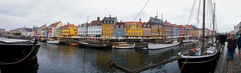 Nyhavn is a man-made channel built in 1673 to facilitate shipping traffic by reaching into the inner city of Copenhagen.  It is a one-of-a-kind for the city.