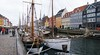 I never confirmed it, but it appeared that only sailing ships and commercial tour boats were allowed to dock at Nyhavn.