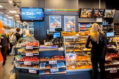 Copenhagen, Denmark, Scenes, Inside, Central Train Station, Danish Bakery Shop