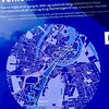 Copenhagen, Denmark, Map, Sign on Waterway, CIty Center, detail,