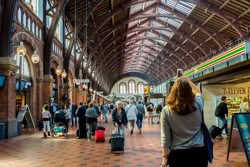 Copenhagen, Denmark, Scenes, Inside, Central Train Station