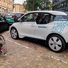 Copenhagen, Denmark, Electric Cars on Street