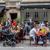 Copenhagen, Denmark, Sidewalk Terrace, Danish Bistro Cafe, Svaeke Cafe on Street