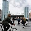 Copenhagen, Denmark, Street Scenes, Town Square, Nerroport Subway Station