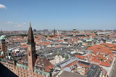 Copenhagen seen from Townhall Tower