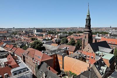 Copenhagen seen from Vor Frue Church;