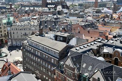 Copenhagen seen from Vor Frue Church