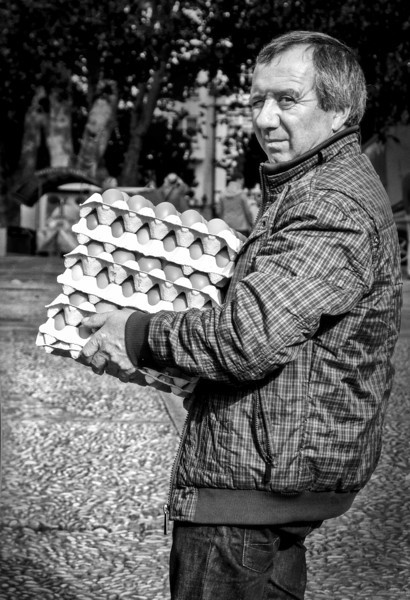 Delivery Man in La Coruna, Spain