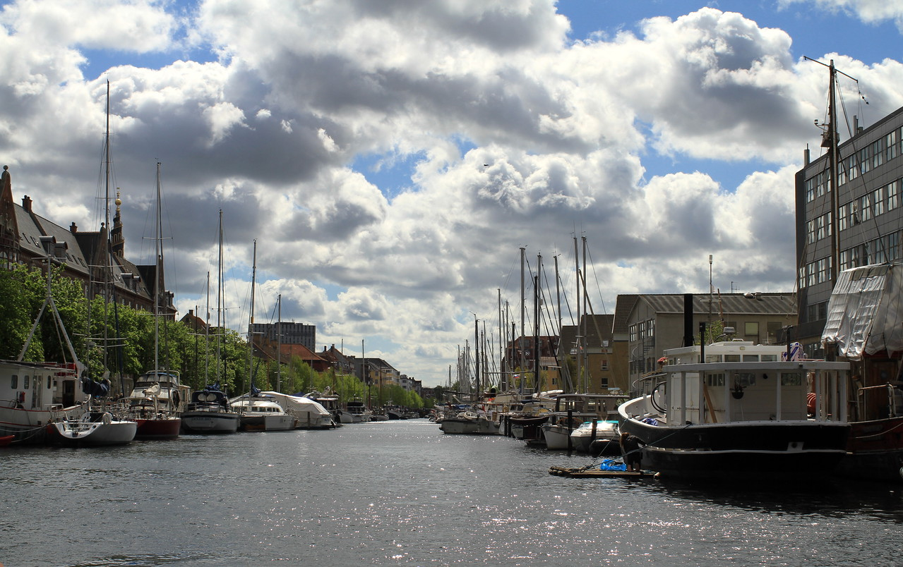 Peaceful canals of Chirstianshavn