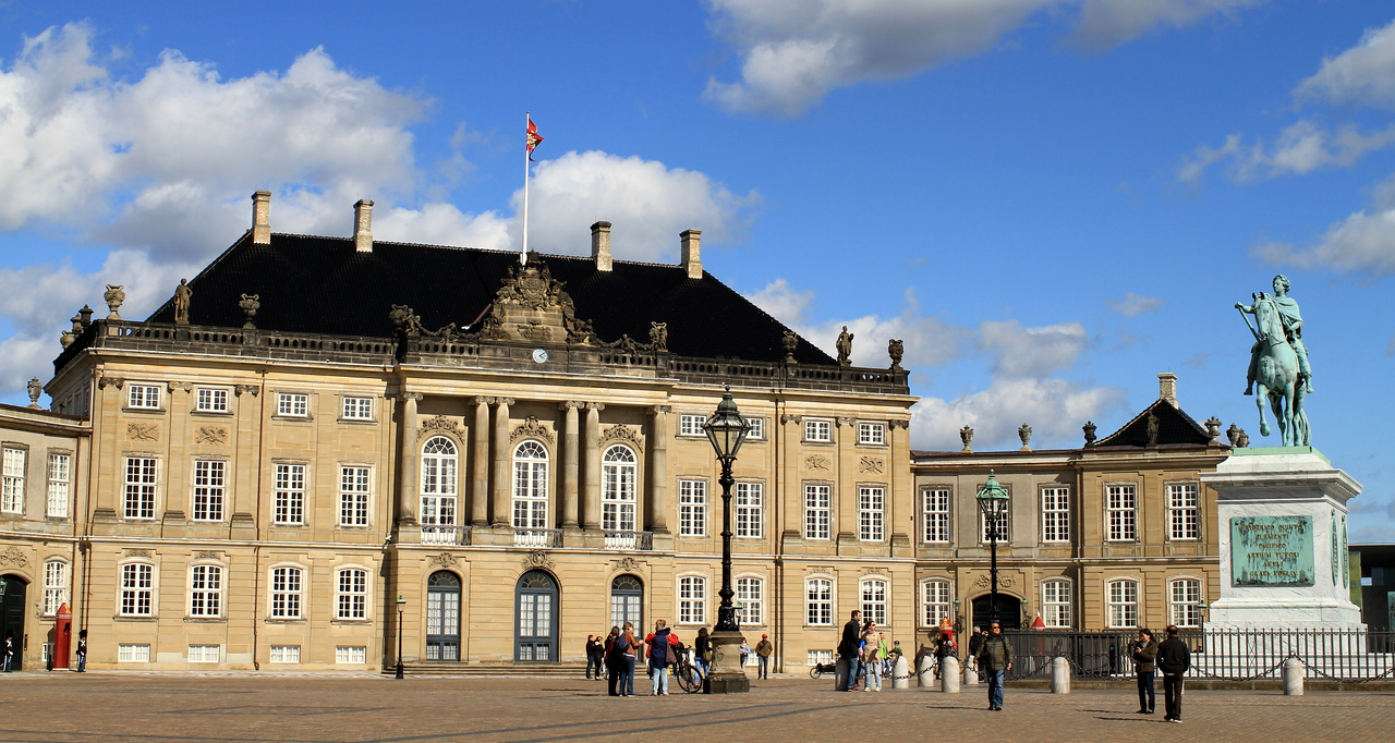 Amalienborg Palace: royal family's residence