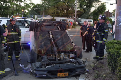 Copiague F.D. MVA w/ Overturn    Montauk Hwy. and S. Strongs Ave.  8/29/16