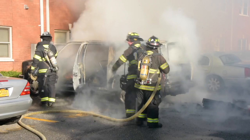 Copiague Car Fire with Two Others and Building Damaged- Paul Mazza