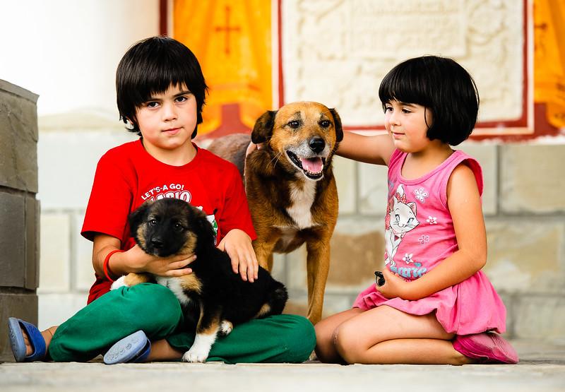 Copii si animale