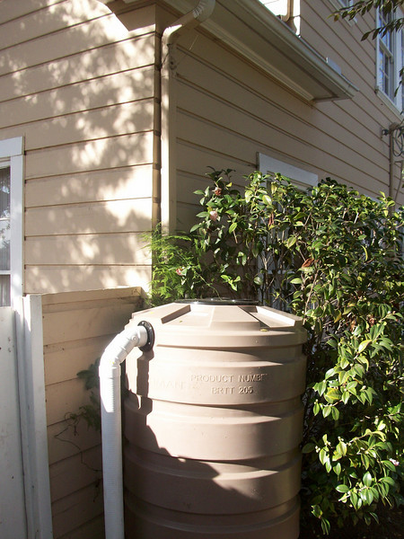 "The Bushman 205 gallon is perfectly sized for a small roof area and the height is ideal as it doesn't stick above the fence.<br /> <br />  <a href=""http://www.rain-watersystems.com/"">http://www.rain-watersystems.com/</a>"