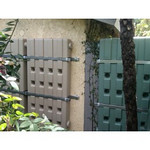 """These three water walls combine to about 180 gallons of storage capacity.<br /> <br /> <br />  <a href=""""http://www.rain-watersystems.com/"""">http://www.rain-watersystems.com/</a>"""