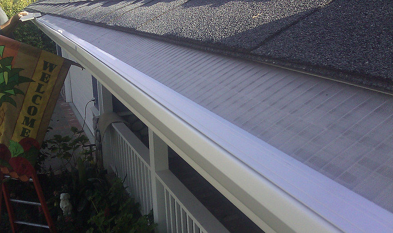 """Properly installed Gutterglove advanced gutter screen eliminates forever the cleaning of your rain gutters.<br /> <br />  <a href=""""http://www.rain-watersystems.com/"""">http://www.rain-watersystems.com/</a>"""