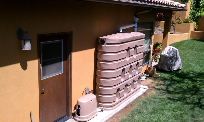 """Completed installation of 620 gallon Bushman slim tank and pump kit.<br /> <br /> <br />  <a href=""""http://www.rain-watersystems.com/"""">http://www.rain-watersystems.com/</a>"""