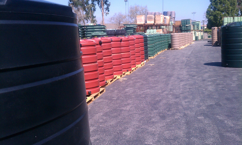 """Temecula inventory of 205 gallon tanks.<br /> <br /> <br />  <a href=""""http://www.rain-watersystems.com/"""">http://www.rain-watersystems.com/</a>"""