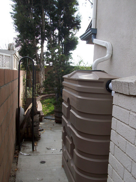 """View of the tank the the downspouts in the last picture fill.<br /> <br />  <a href=""""http://www.rain-watersystems.com/"""">http://www.rain-watersystems.com/</a>"""