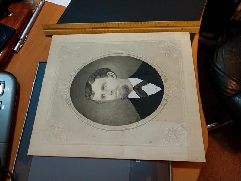 Flat Rectangular Photo of Man (Original)