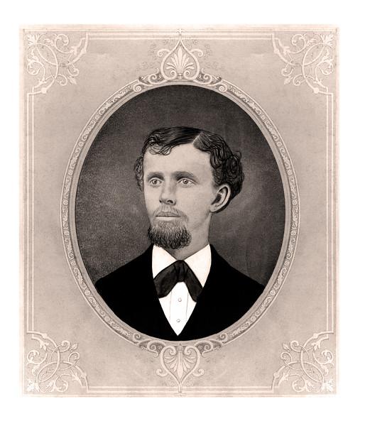 Flat Rectangular Photo of Man  (restored)