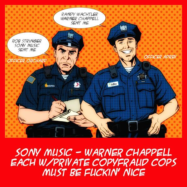 Sony Music & Warner Chappell Copyfraud Cops - Orchard & AdRev