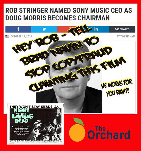 #SonyMusic #RobStringer Newest Member Of Copyracketeer Hall Of Shame