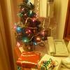 Ye olde cabin Christmas tree.