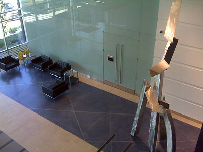 View of lobby from the second floor