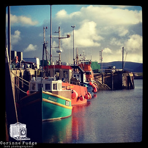 fishing boats, stromness harbour september 2012 corinne fudge photography