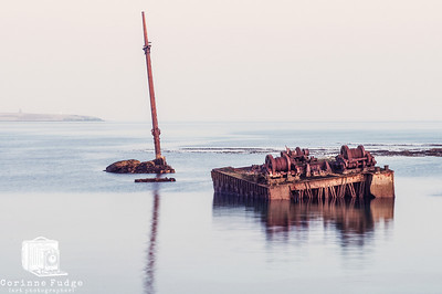 blockship at low tide, scapa flow, orkney march 2012 corinne fudge photography