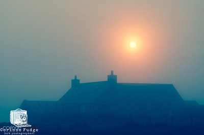 homestead mist and the 'midnight' sun orkney, 2012
