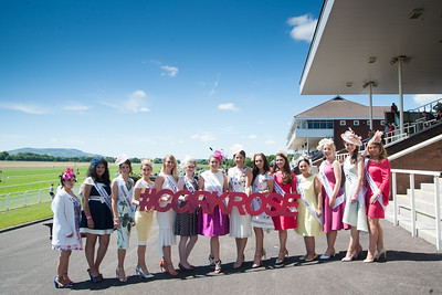 18th June 2017; Pictured is Cork Rose 2016, Denise Collins, Knocknaloman, Co. Cork with the North Cork Roses 2017 at Cork Racecourse Mallow enjoying the sun on Sunday 18th June 2017. Photo by Sean Jefferies Photography.