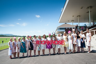 18th June 2017; Pictured is Cork Rose 2016, Denise Collins, Knocknaloman, Co. Cork with the Cork City Roses 2017 at Cork Racecourse Mallow enjoying the sun on Sunday 18th June 2017. Photo by Sean Jefferies Photography.