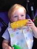 2014 - Charlie Schmidt eating his first Corn Carnival corn!