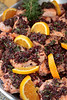 2907 - Salmon with olive tempenade and oranges - Robin Scott Catering