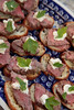 2933 - Filet mignon with horseradish cream on toasted baguette - Robin Scott Catering