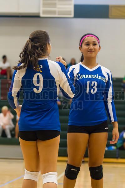 Cornerstone Charter Ducks @ Oak Ridge Pioneers Girls Varsity Volleyball - 2014- DCEIMG-4396