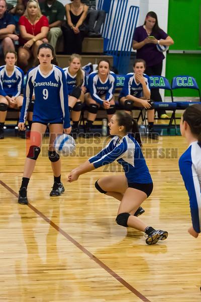 Oak Ridge Pioneers @ Cornerstone Ducks  Girls Varsity Volleyball  -  2015 - DCEIMG-7533