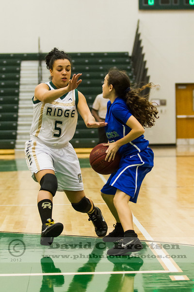 Cornerstone Ducks @ Oak Ridge Pioneers Girls Varsity Basketball  - 2012  DCEIMG-2374