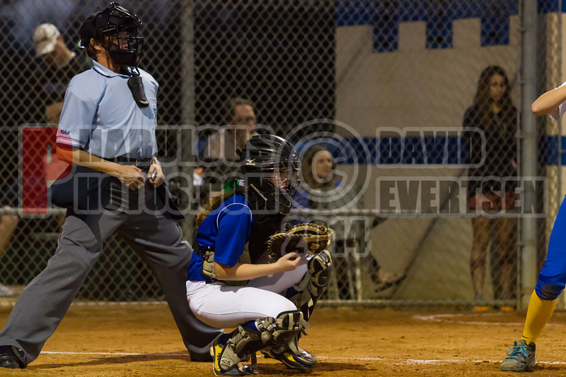 Cornerstone Charter Academy Ducks @ The First Academy Royals Girls Varsity Softball - 2014 - DCEIMG-6722