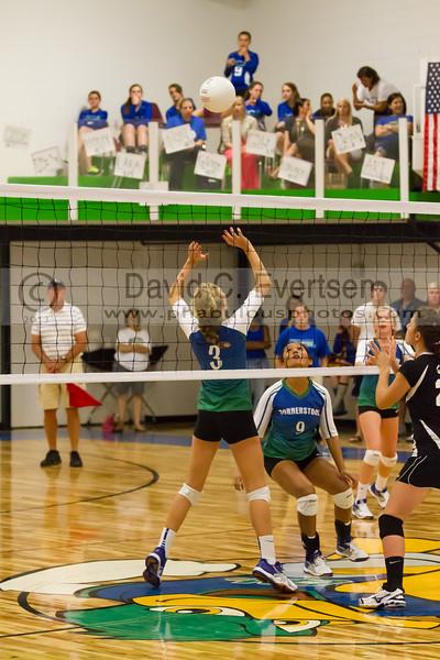 Faith Christian @ Cornerstone Charter Girls Varsity Volleyball - 2013 - DCEIMG-1086