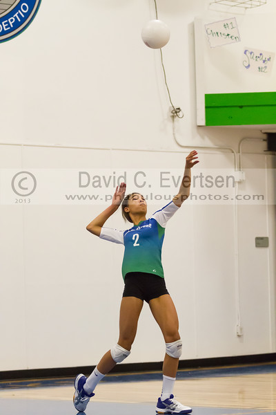 Faith Christian @ Cornerstone Charter Girls Varsity Volleyball - 2013 - DCEIMG-1054
