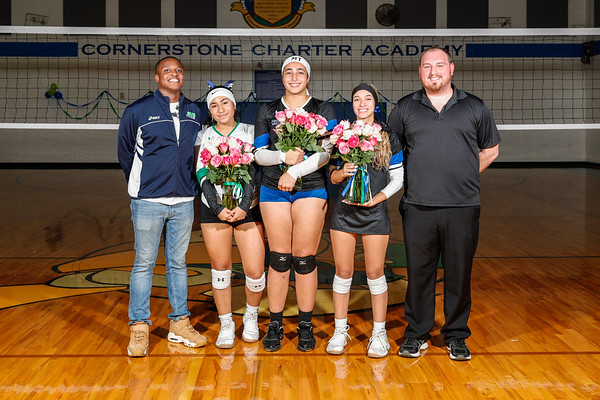 HS Volleyball: Cornerstone Charter Honor Seniors